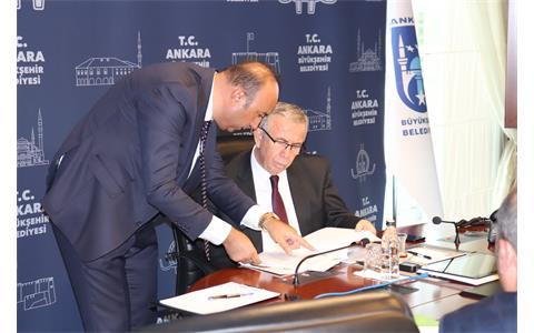 Ankara Büyükşehir Belediye Başkanı Sayın Mansur Yavaş'a Hayırlı Olsun Ziyareti