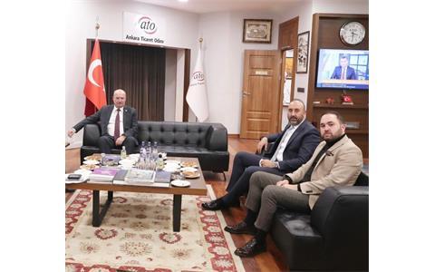 Ankara Ticaret Odası Başkanı Gürsel Baran'a Başsağlığı Ziyareti