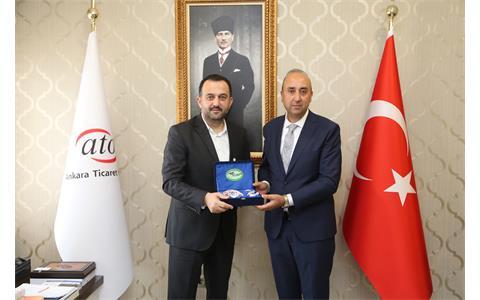 ATO Başkan Yardımcısı Halil İbrahim Yılmaz'a Hayırlı Olsun Ziyareti