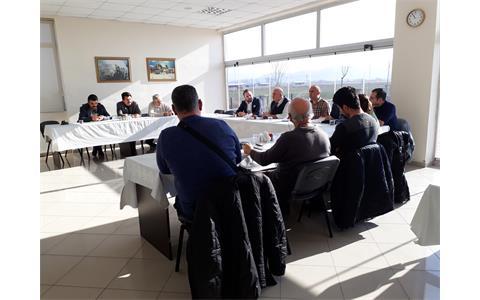 """Sincan İlçe Gıda Tarım ve Hayvancılık Müdürü Şamil Yüksek ile """"Buzağı Ölümlerinin Önlenmesi"""" konulu toplantı yapıldı."""