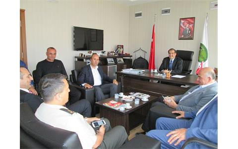 Visit of Sincan District Governor Salim Demir, Police Chief of the District Fikri Yıldırım, Sincan District Director of Food, Agriculture and Livestock Şamil Yüksek and their delegation to the Region.